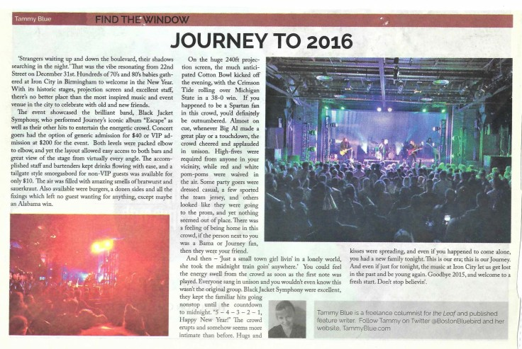Journey to 2016